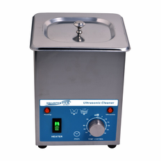 "Sharpertek Heated Ultrasonic Cleaner SH80-2L 6"" x 5.25"" x 4""  (L x W x H)"