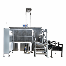 SharperTek Multi Tank Pneumatic Manual Transfer Assist Ultrasonic Cleaning System.