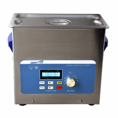 "Heated Ultrasonic Cleaner XPS360-6L with Sweep and Degas 11.75"" � 6"" � 6"" (Tank L � W � Depth) by Sharpertek USA."