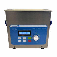 "Heated Ultrasonic Cleaner XPS120-3L 9"" x 5.5"" x 4"" (Tank L x W x Depth) with Sweep and Degas Made in USA!"