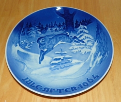 1964 Collector Plate B&G Annual Christmas Plate The Fir Tree and the Hare Out of Stock