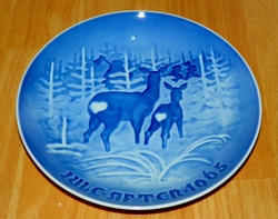 1965 Collector Plate B&G Annual Christmas Plate Bringing Home the Christmas Tree