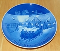 1969 Collector Plate B&G Annual Christmas Plate Arrival of Christmas Guests