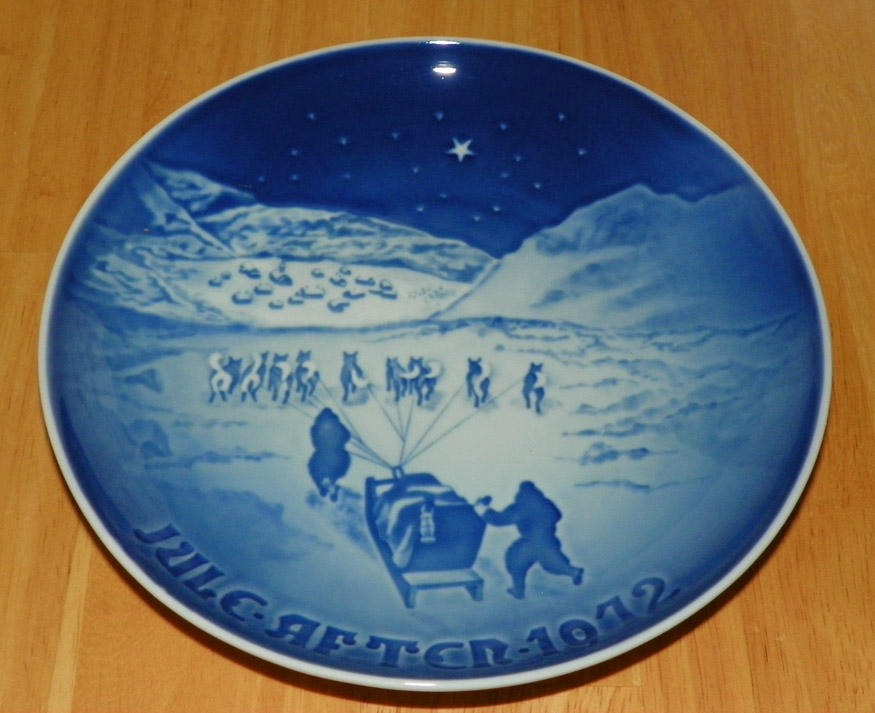 Christmas In Greenland.1972 Collector Plate B G Annual Christmas Plate Christmas In