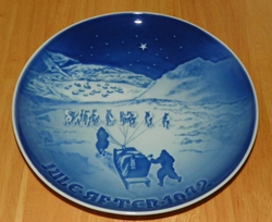 1972 Collector Plate B&G Annual Christmas Plate Christmas in Greenland
