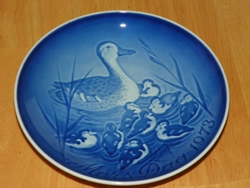Collector Plate B&G Mini Plate Annual Mother's Day Duck & Ducklings 1973