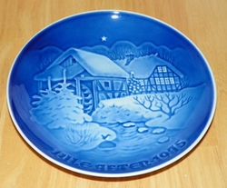 1975 Collector Plate B&G Annual Christmas Plate Old Water Mill