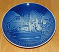 1976 Collector Plate B&G Annual Christmas Plate Christmas Welcome