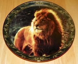 1994 Plate Reflections of Kings Series Name Portraits of Majesty - Lion OUT OF STOCK