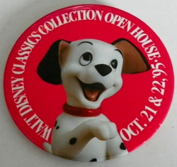 1995 Open House Pinback Button WDCC 101 Dalmatians