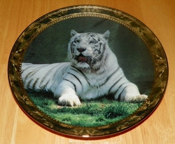 1995 Plate Solemn Sovereign Series Name Portraits of Majesty – White Tiger SOLD
