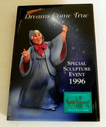 1996 Pinback Button Cinderella Godmother Event WDCC