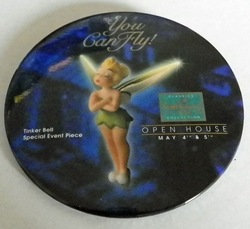 1996 Pinback Button Tinkerbell Peter Pan Event WDCC