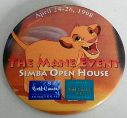 1998 Pinback Button Simba Open House Event WDCC