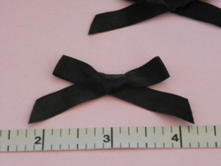 24 Pcs Black Satin Ribbon Bows for Crafts, Scrapbooking - Use your Imagination