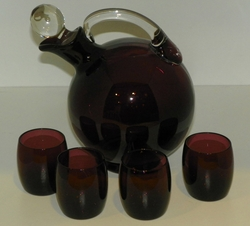 Cambridge Amethyst 32oz Decanter with 4 tumblers Set SOLD
