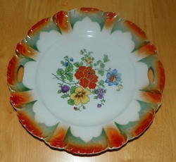Tab Handled Plate 9 inch Marked Bavaria