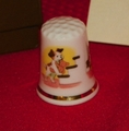 Bedtime Puppy Berkshire Porcelain England Thimble Collectors Club