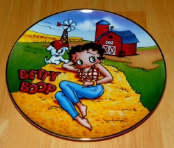 Collector Plate Betty Boop America's Sweetheart - Barnyard Beauty Danbury Mint
