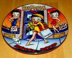 Collector Plate Betty Boop America's Sweetheart Shop Till You Drop Danbury Mint