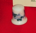 Bird & Flowers Meixian Porcelain China Thimble Collectors Club