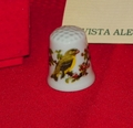 Bird Vista Alegre Porcelain Portugal Thimble Collectors Club