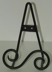 Black Easel - Standing or Hanging Plate Stands S Design