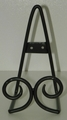 Black Easel - Standing or Hanging Plate Stands Twin Scroll Design Out of Stock