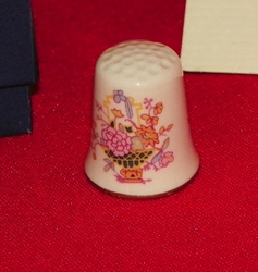 Brocade Mason's Ironstone England Thimble Collectors Club
