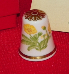 Buttercup Spode China Porcelain England Thimble Collectors Club