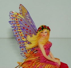 Collectible Lena Lui Butterfly Amora Garden Fairy Figurine