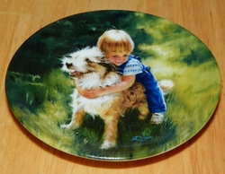 Collector Miniature Plate Donald Zolan Backyard Buddies