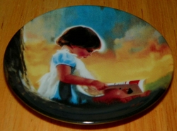 Collector Miniature Plate Donald Zolan By Myself SOLD