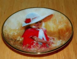 Collector Miniature Plate Donald Zolan Jessica's Field