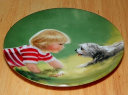 Collector Miniature Plate Donald Zolan Making Friends