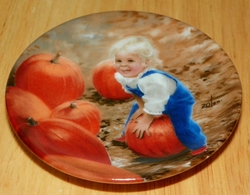 Collector Miniature Plate Donald Zolan My Pumpkin