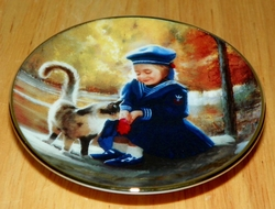 Collector Miniature Plate Donald Zolan Secret Friends 4th Issue
