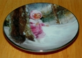 Collector Miniature Plate Donald Zolan Snowy Adventure