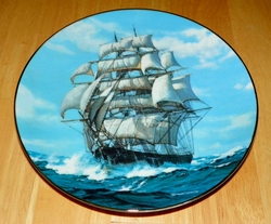 Collector Plate 1989 The Twilight Under Full Sail The Golden Age of Clipper Ship