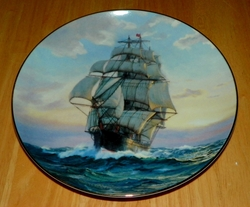 Collector Plate 1989  Young America Homeward Bound The Golden Age of Clipper Ships W.S. George