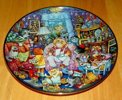 Collector Plate Purrfect Mom Franklin Mint Heirloom Bill Bell