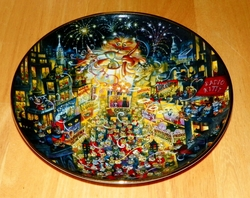 Collector Plate Purring in the Mew Year Franklin Mint Heirloom