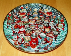 Collector Plate Santa Claws Franklin Mint Heirloom Bill Bell