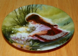 Collector Plate D. Zolan Colors of Spring Miniature