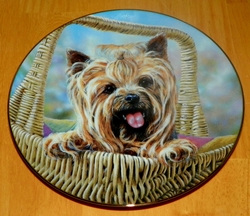 Collector Plate Danbury Mint Carry Me Home Yorkshire Terriers Collection