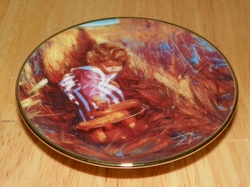 Collector Plate Donald Zolan Golden Harvest Miniature 1st Issue