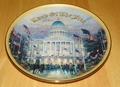 Collector Plate Flags Over the Capitol Thomas Kinkade God Bless America Coll