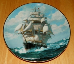 Collector Plate Flying Cloud Rounding the Cape The Golden Age of Clipper Ships