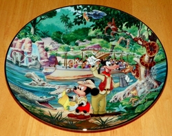 Collector Plate from Disneyland's 40th Anniversary Series.   Issue 11 of 12 titled: Jungle Cruise Out of Stock