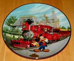 Collector Plate from Disneyland's 40th Anniversary Series.  Issue 2 of 12 titled: Disneyland Railroad